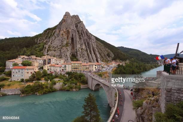 104th Tour de France 2017 / Stage 19 Peloton / Sisteron / Bridge / Landscape / Embrun Salon de Provence / TDF /