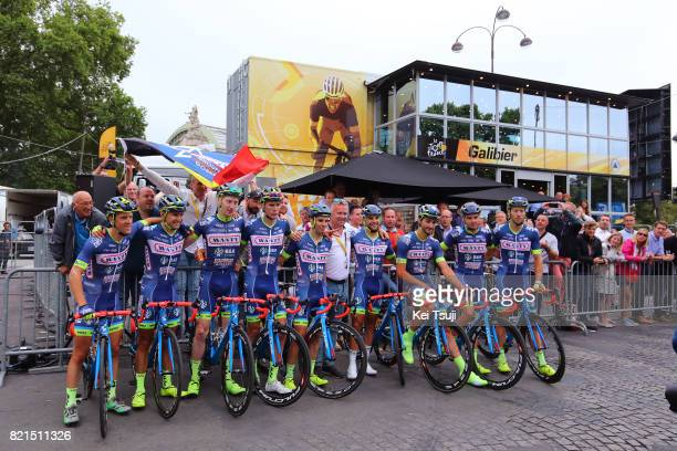 104th Tour de France 2017 / Stage 21 Arrival / Team Wanty Group Gobert / Guillaume MARTIN / Frederik BACKAERT / Thomas DEGAND / Marco MINNAARD /...