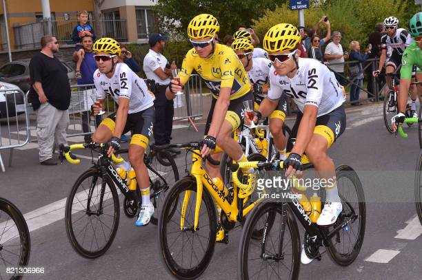 104th Tour de France 2017 / Stage 21 Christopher FROOME Yellow Leader Jersey / Michal KWIATKOWSKI / Champagne / Montgeron Paris ChampsElysees / TDF /