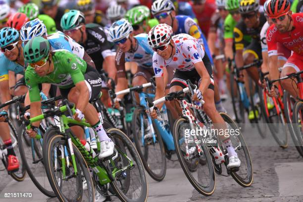 104th Tour de France 2017 / Stage 21 Michael MATTHEWS Green Sprint Jersey / Warren BARGUIL Polka Dot Mountain Jersey / Montgeron Paris ChampsElysees...