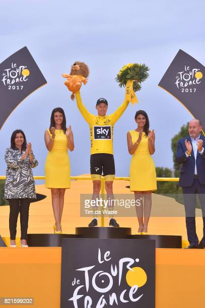 104th Tour de France 2017 / Stage 21 Podium / Christopher FROOME Yellow Leader Jersey / Celebration / Montgeron Paris ChampsElysees / TDF /