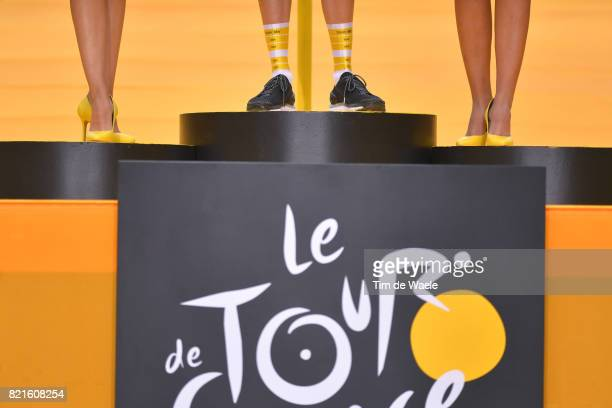 104th Tour de France 2017 / Stage 21 Podium / Christopher FROOME Yellow Leader Jersey / Miss Hostess / Legs / Montgeron Paris ChampsElysees / TDF /
