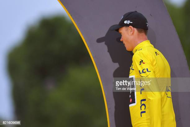 104th Tour de France 2017 / Stage 21 Podium / Christopher FROOME Yellow Leader Jersey / Montgeron Paris ChampsElysees / TDF /