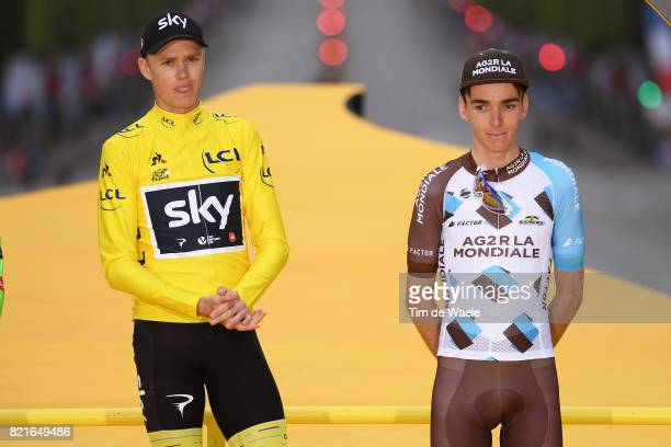 104th Tour de France 2017 / Stage 21 Podium / Christopher FROOME Yellow Leader Jersey Celebration / / Romain BARDET Disappointment / Montgeron Paris...