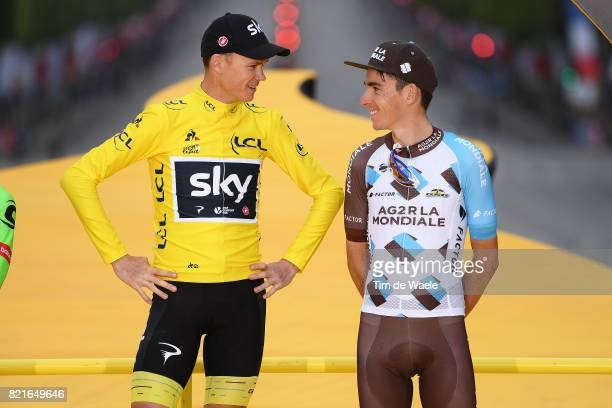 104th Tour de France 2017 / Stage 21 Podium / Christopher FROOME Yellow Leader Jersey / Romain BARDET / Montgeron Paris ChampsElysees / TDF /pool ff/