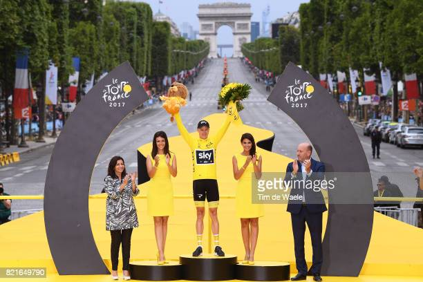 104th Tour de France 2017 / Stage 21 Podium / Christopher FROOME Yellow Leader Jersey / Celebration / Montgeron Paris ChampsElysees / TDF /pool ff/