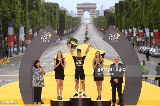 104th Tour de France 2017 / Stage 21 Podium / Dylan GROENEWEGEN / Celebration / Montgeron Paris ChampsElysees / TDF /pool ff/