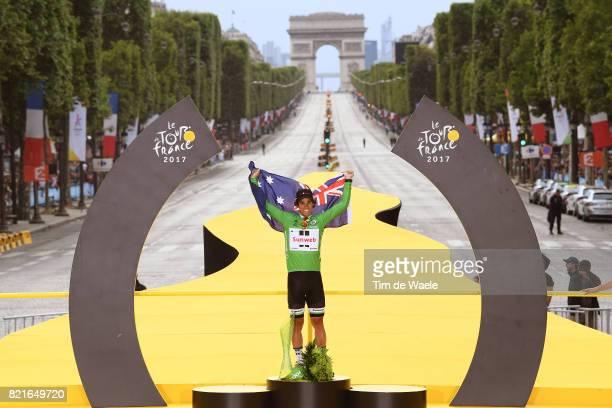104th Tour de France 2017 / Stage 21 Podium / Michael MATTHEWS Green Sprint Jersey / Celebration / Montgeron Paris ChampsElysees / TDF /pool ff/