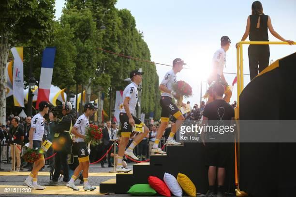 104th Tour de France 2017 / Stage 21 Podium / Mikel NIEVE ITURALDE / Mikel LANDA MEANA / Christian KNEES / Luke ROWE / Michal KWIATKOWSKI / Team Sky...
