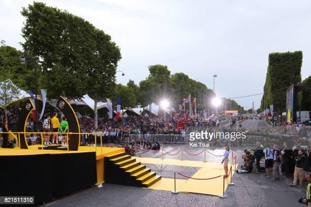 104th Tour de France 2017 / Stage 21 Podium / Romain BARDET / Christopher FROOME Yellow Leader Jersey / Rigoberto URAN / Montgeron Paris...