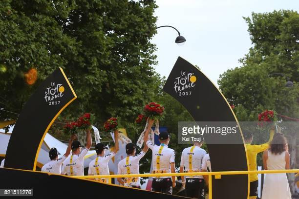 104th Tour de France 2017 / Stage 21 Podium / Sergio Luis HENAO / Vasil KIRYIENKA / Mikel NIEVE ITURALDE / Mikel LANDA MEANA / Christian KNEES / Luke...