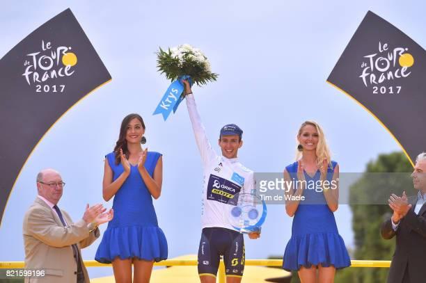 104th Tour de France 2017 / Stage 21 Podium / Simon YATES White Best Young Rider Jersey / Celebration / Montgeron Paris ChampsElysees / TDF /