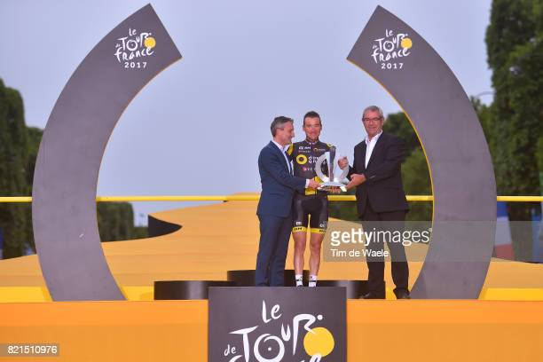 104th Tour de France 2017 / Stage 21 Podium / Thomas VOECKLER / Celebration / Montgeron Paris ChampsElysees / TDF /