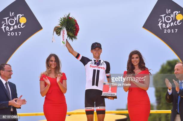 104th Tour de France 2017 / Stage 21 Podium / Warren BARGUIL / Most Agressive Rider / Celebration / Montgeron Paris ChampsElysees / TDF /