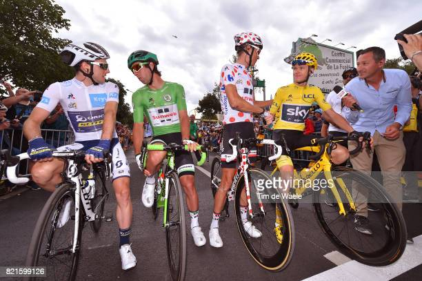 104th Tour de France 2017 / Stage 21 Simon YATES White Best Young Rider Jersey / Warren BARGUIL Polka Dot Mountain Jersey / Michael MATTHEWS Green...