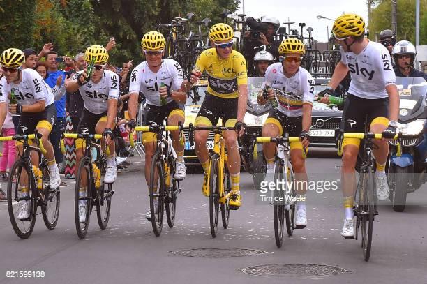 104th Tour de France 2017 / Stage 21 Team Sky / Christopher FROOME Yellow Leader Jersey / Sergio Luis HENAO / Vasil KIRYIENKA / Christian KNEES /...