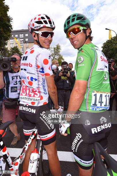 104th Tour de France 2017 / Stage 21 Warren BARGUIL Polka Dot Mountain Jersey / Michael MATTHEWS Green Sprint Jersey / Renson / Montgeron Paris...