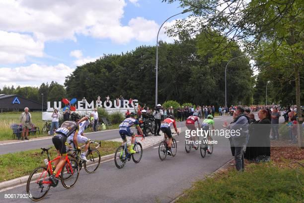 104th Tour de France 2017 / Stage 3 Adam HANSEN / Nils POLITT / Romain HARDY / Frederik BACKAERT / Nathan BROWN / Romain SICARD / Luxembourg/ Fans /...