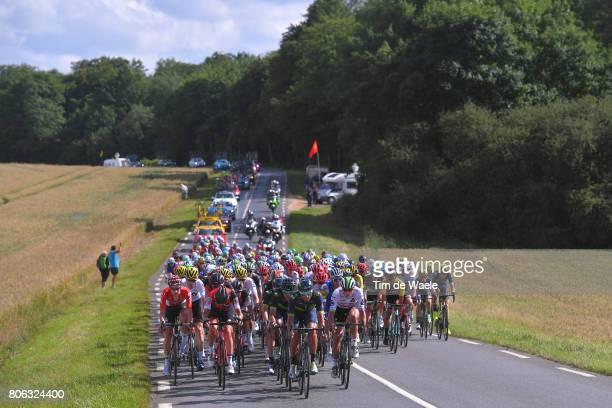 104th Tour de France 2017 / Stage 3 Stephen CUMMINGS / Daniele BENNATI / Tim WELLENS / Landscape / Peloton / Verviers LongwyCote des Religieuses 379m...