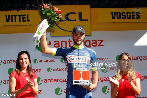 104th Tour de France 2017 / Stage 4 Podium / Guillaume VAN KEIRSBULCK Most Aggressive Rider Celebration / MondorflesBains Vittel 362m / TDF/