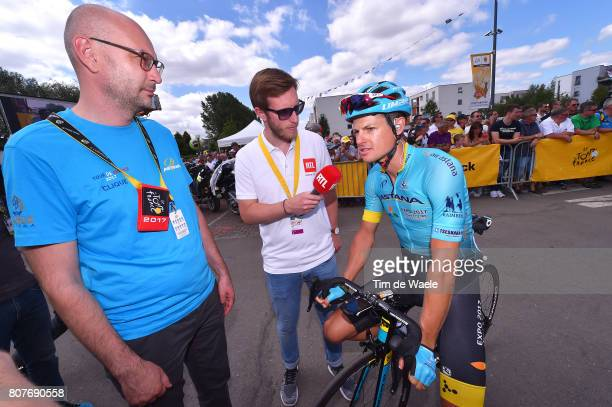 104th Tour de France 2017 / Stage 4 Start / Jakob FUGLSANG / Vitrali ABRAMOV Press Officer Team Astana / MondorflesBains Vittel 362m / TDF/