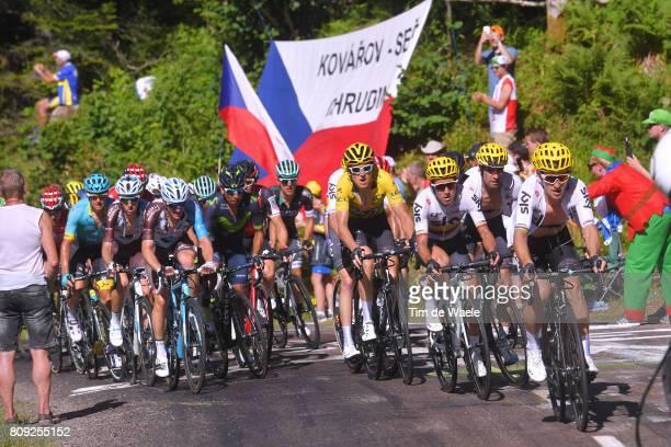 104th Tour de France 2017 / Stage 5 Geraint THOMAS Yellow Leader Jersey / Michal KWIATKOWSKI / Sergio Luis HENAO / Mikel LANDA MEANA / Mathias FRANK...