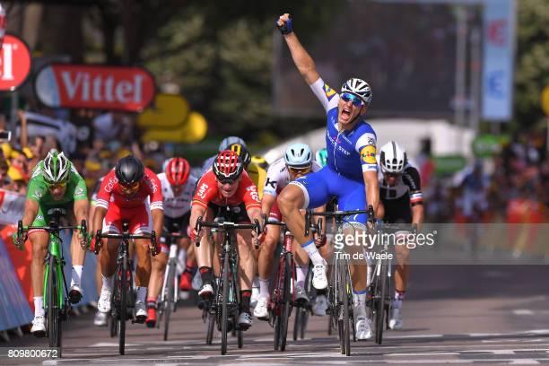 104th Tour de France 2017 / Stage 6 Arrival / Marcel KITTEL Celebration / Nacer BOUHANNI / Arnaud DEMARE Green Sprint Jersey / Andre GREIPEL /...