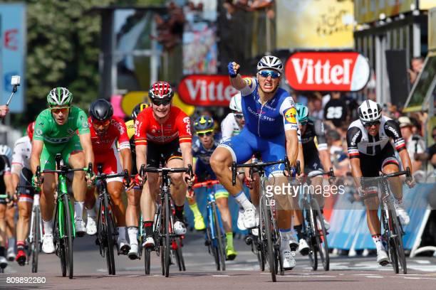 104th Tour de France 2017 / Stage 6 Arrival / Marcel KITTEL Celebration / Arnaud DEMARE Green Sprint Jersey / Andre GREIPEL / Michael MATTHEWS /...