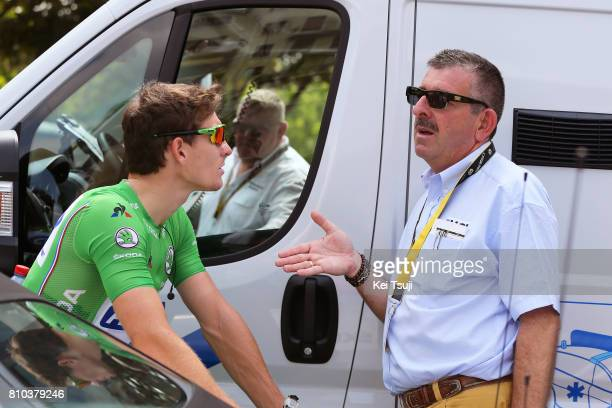 104th Tour de France 2017 / Stage 7 Arnaud DEMARE Green Sprint Jersey / Philippe MARIEN UCI Commissaire / Troyes Nuits Saint Georges / TDF /