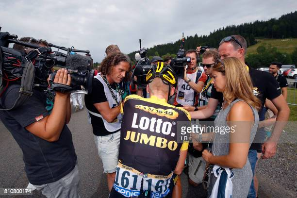 104th Tour de France 2017 / Stage 8 Arrival / Robert GESINK / Interview / Press / Dole Station des Rousses 1178m / TDF /