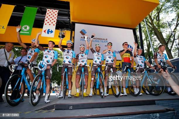 104th Tour de France 2017 / Stage 8 Podium / Team AG2R La Mondiale / Ben GASTAUER / Mathias FRANK / Alexis VUILLERMOZ / Pierre LATOUR / Axel DOMONT /...