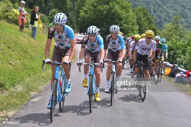 104th Tour de France 2017 / Stage 9 Ben GASTAUER / Pierre LATOUR / Romain BARDET / Team AG2R La Mondiale / Michal KWIATKOWSKI / Nantua Chambery / TDF/