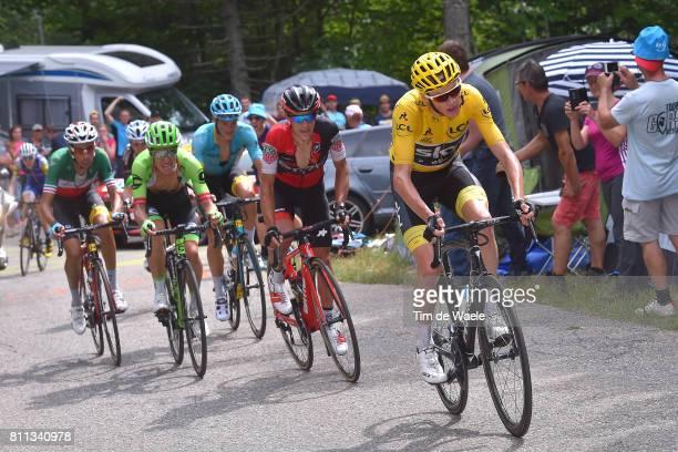 104th Tour de France 2017 / Stage 9 Christopher FROOME Yellow Leader Jersey / Richie PORTE / Rigoberto URAN / Fabio ARU / Jakob FUGLSANG / Daniel...