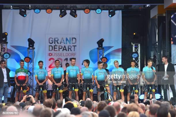104th Tour de France 2017 / Team Presentation Team ASTANA PRO TEAM / Fabio ARU / Dario CATALDO / Jakob FUGLSANG / Andrey GRIVKO / Dmitry GRUZDEV /...