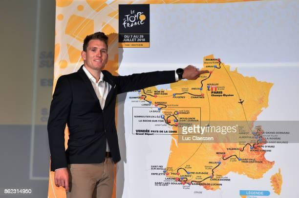 105th Tour de France 2018 / Presentation Arnaud DEMARE / Illustration Routemap/ Stages / Le Palais des Congres / Presentation TDF / ©Tim De...
