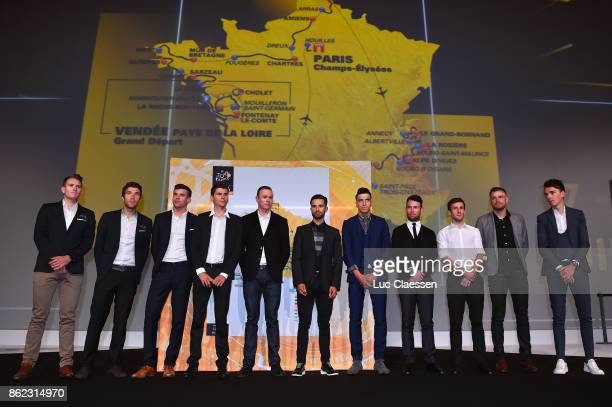 105th Tour de France 2018 / Presentation Arnaud DEMARE / Thibaut PINOT / Liliane CALMEJANE / Warren BARGUIL / Chris FROOME / Nacer BOUHANNI / Rayanne...