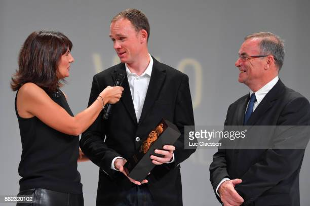 105th Tour de France 2018 / Presentation Chris FROOME Prix Velo D'Or Winner / Bernard HINAULT PR ASO / Le Palais des Congres / Presentation TDF /...