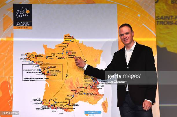 105th Tour de France 2018 / Presentation Chris FROOME / Route Map / Stages / Le Palais des Congres / Presentation TDF / ©Tim De WaeleLC/Tim De...