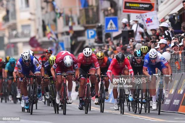 108th MilanSanremo 2017 Arrival / Sprint / Arnaud DEMARE / Elia VIVIANI / Nacer BOUHANNI / John DEGENKOLB / Alexander KRISTOFF / Fernando GAVIRIA /...