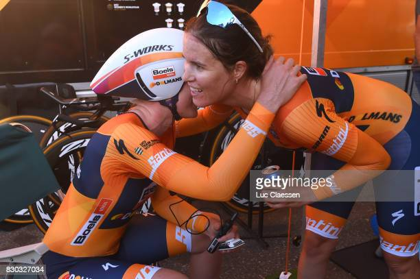 10th Open de Suede Vargarda 2017 / Women TTT Anna VAN DER BREGGEN / KarolAnn CANUEL Celebration / Vargarda Vargarda / Team Time Trial / TTT / Women /...