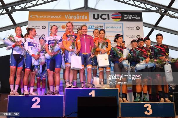 10th Open de Suede Vargarda 2017 / Women TTT Podium / Ashleigh MOOLMANPASIO/ Lotta LEPISTO/ Cecile Uttrup LUDWIG/ Lisa KLEIN/ Clara KOPPENBURG/...