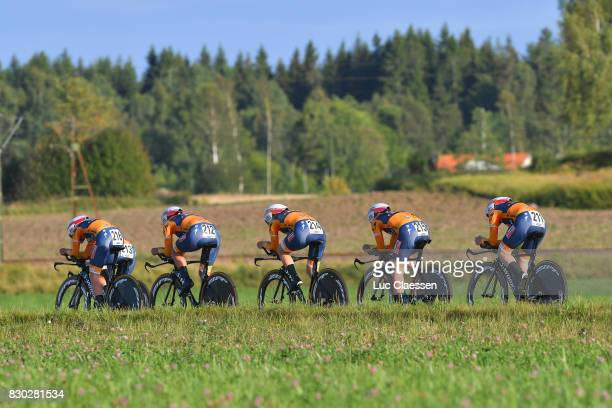 10th Open de Suede Vargarda 2017 / Women TTT Team Boels Dolmans Cycling Team / Anna VAN DER BREGGEN / Chantal BLAAK / Karolann CANUEL / Amalie...