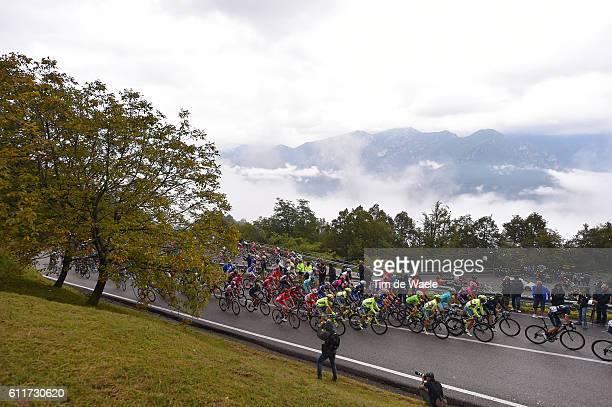 110th Il Lombardia 2016 Landscape / Peloton / Mountains / Madonna Del Ghisallo 754m/ Como Bergamo / Il Lombardia / Tim De Waele