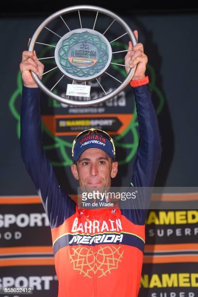 111th Il Lombardia 2017 Podium / Vincenzo NIBALI / Celebration / Trophy / Bergamo Como / IL /