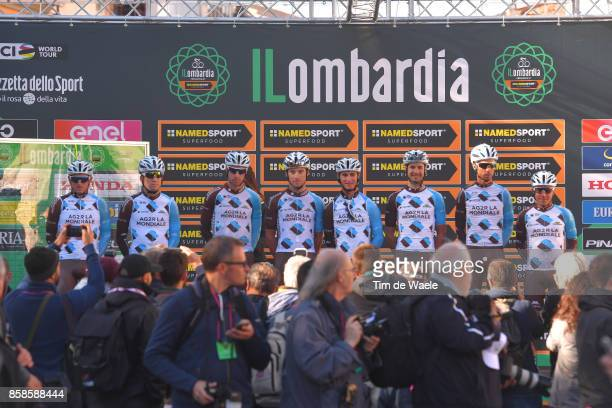 111th Il Lombardia 2017 Start / Podium / Team AG2R La Mondiale / Domenico POZZOVIVO / Jan BAKELANTS / Francois BIDARD / Mickael CHEREL / Mathias...