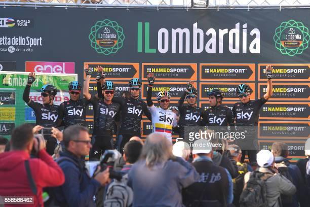 111th Il Lombardia 2017 Start / Podium / Team SKY / Michal KWIATKOWSKI / Sergio Luis HENAO / Mikel LANDA MEANA / Gianni MOSCON / Mikel NIEVE / Wout...