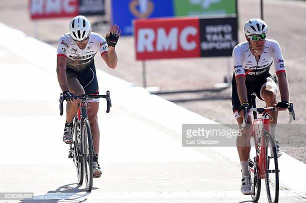 114th Paris Roubaix 2016 Arrival / CANCELLARA Fabian Celebration Joie Vreugde / Compiegne Roubaix / Parijs PR / Tim De WaeleLC/Tim De Waele/Corbis...