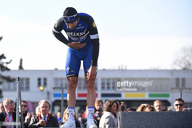 114th Paris Roubaix 2016 Podium BOONEN Tom Celebration Joie Vreugde / Compiegne Roubaix / Parijs PR / Tim De WaeleLC/Tim De Waele/Corbis via Getty...