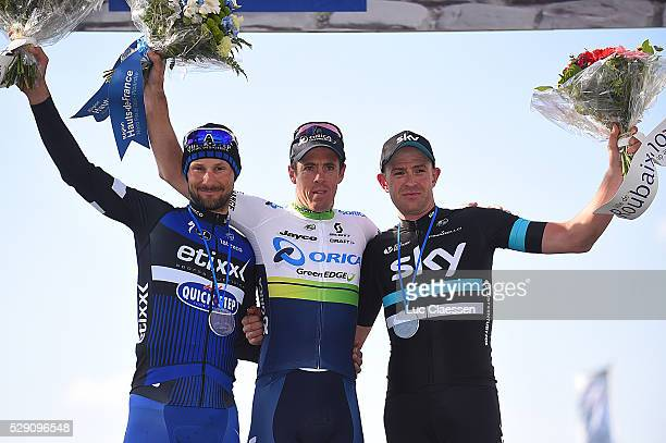 114th Paris Roubaix 2016 Podium / BOONEN Tom / HAYMAN Matthew / STANNARD Ian / Celebration Joie Vreugde / Compiegne Roubaix / Parijs PR / Tim De...