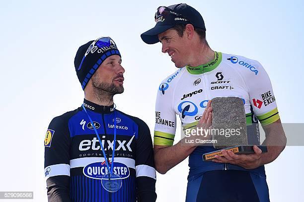 114th Paris Roubaix 2016 Podium / BOONEN Tom / HAYMAN Matthew / Celebration Joie Vreugde / Compiegne Roubaix / Parijs PR / Tim De WaeleLC/Tim De...